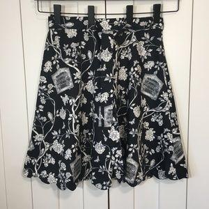 NWT Talbots Birdcage Print Skirt SZ 8P